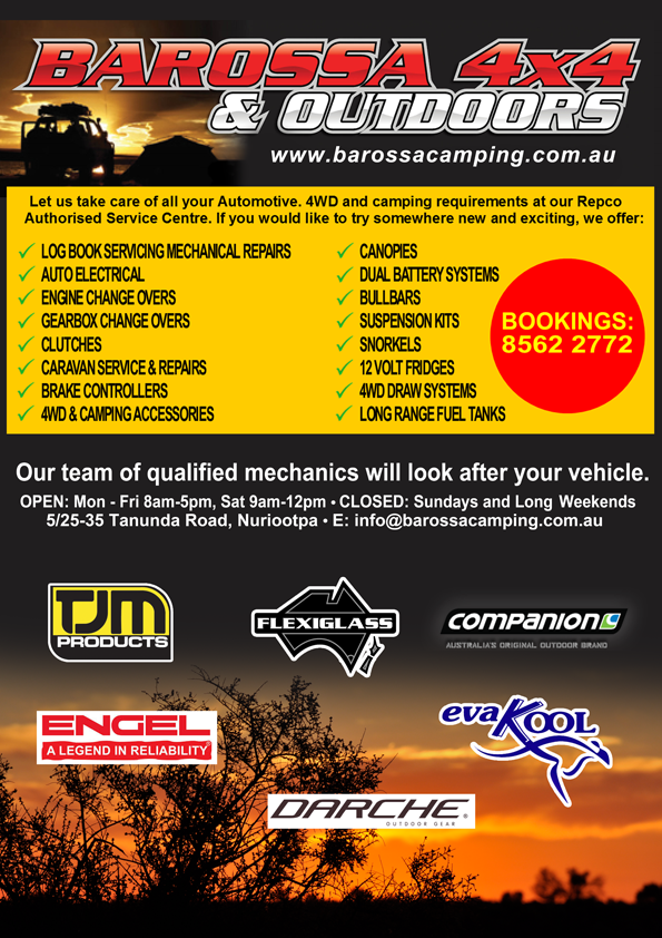 Barossa 4x4 Advert